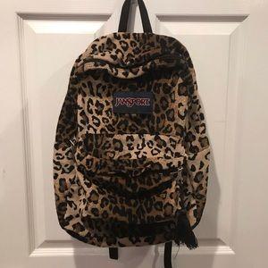 Leopard Print Jansport Backpack!